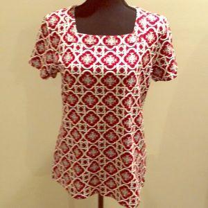 Short sleeve square neck shirt